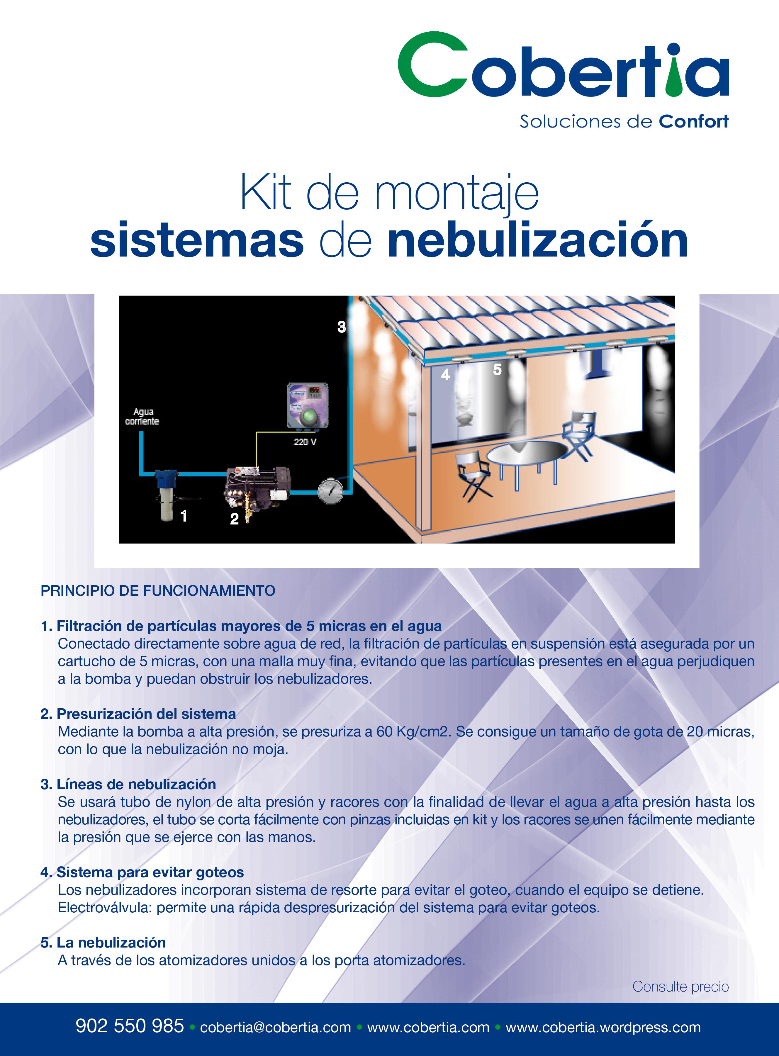 Cobertia kits de montaje de sistemas de nebulizaci n - Sistema de nebulizacion ...